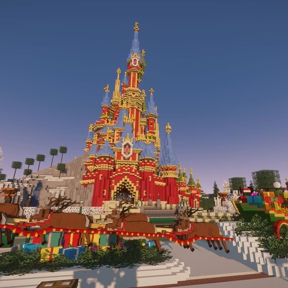 Image du château de disneyland paris sur Magiccraft minecraft