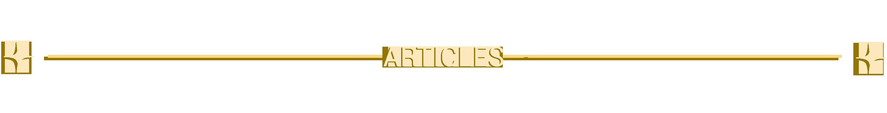 bannière des articles