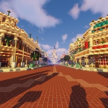 Image de Magiccraft de Main Street sur minecraft disneyland paris