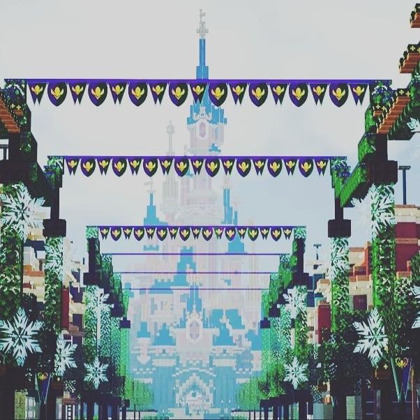 Image de Main Street de Magiccraft sur minecraft disneyland paris