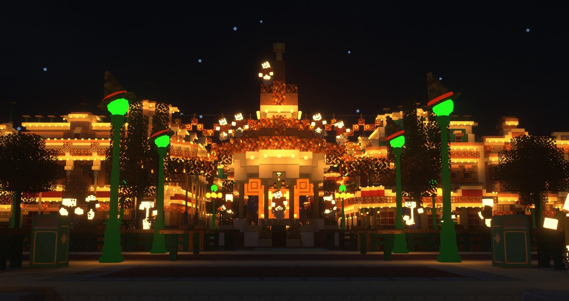Une photo du château de Disneyland Paris sur MagicCraft Minecraft